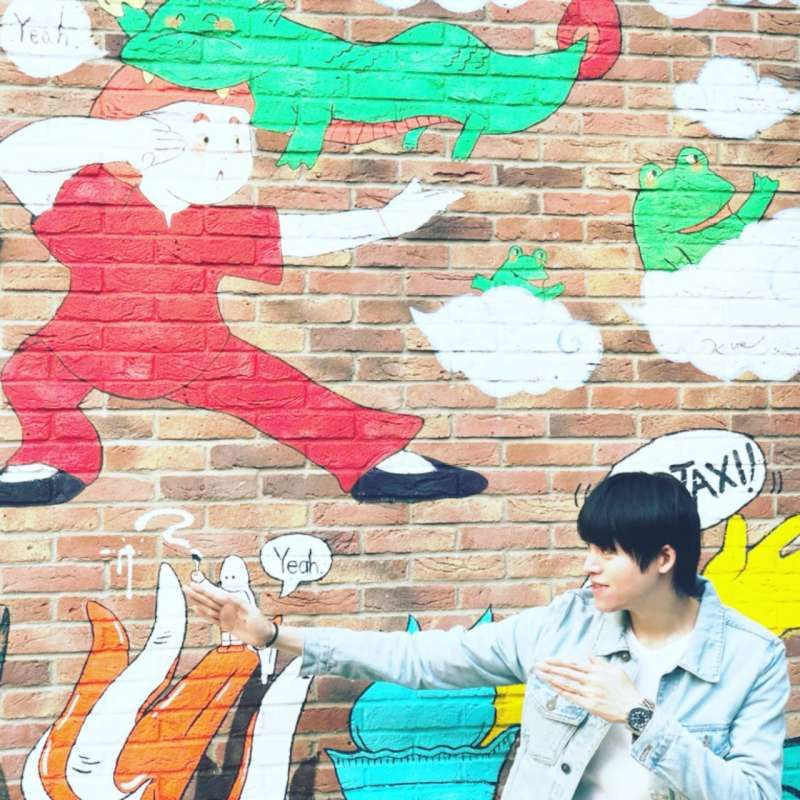 Awesome wall art at Harajuku, Tokyo and Yes, apparently everybody was kung fu fighting.