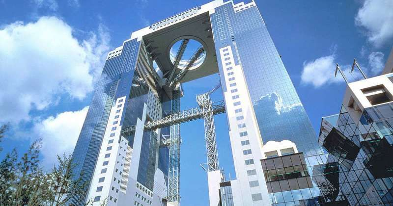 osaka sky building the landmark of osaka kita district