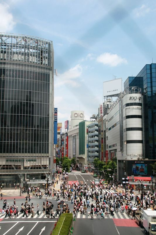 It is said more than 500.000 people cross Shibuya Crossing each day.