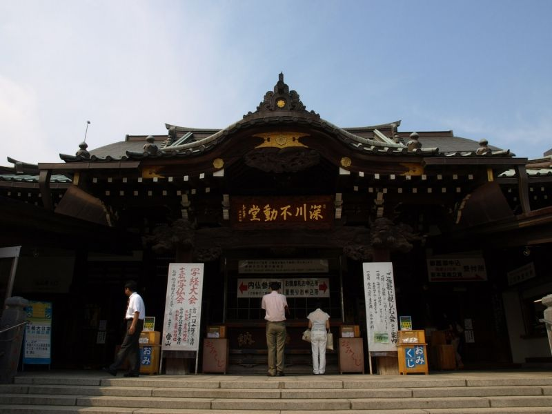 You can watch a sacred fire ritual called Gomadaki (mystique of the Esoteric Buddhism) at Fukagawa Fudoson Temple  every day.