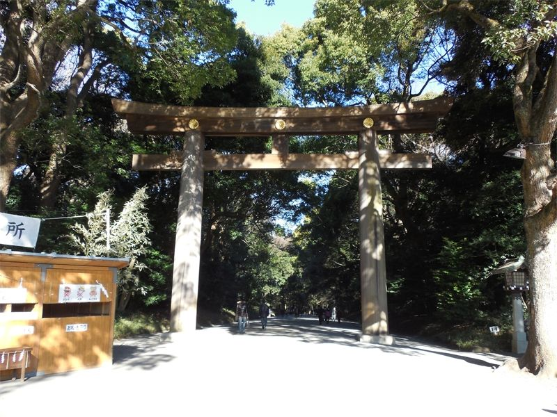 Meiji Shrine is rich of beautiful greenery. you might be able to feel somothing spiritual.