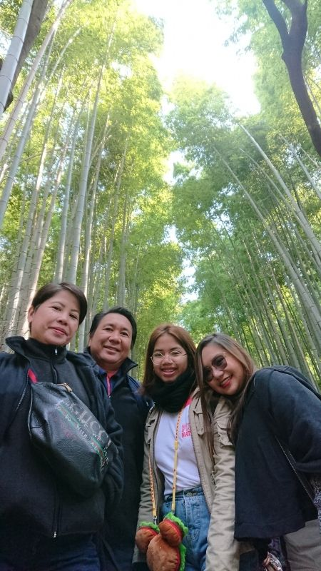 Nice family at Bamboo Forest
