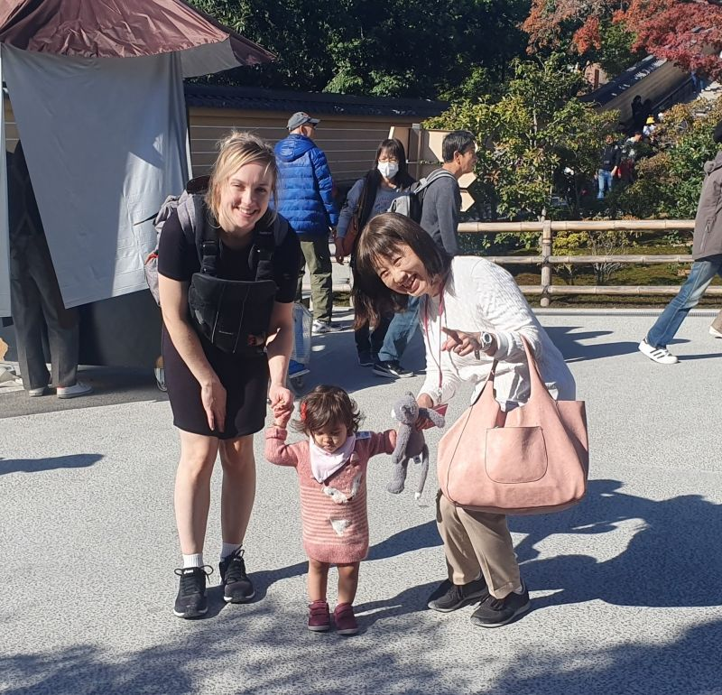 My happy time with my favorite 'Yancha girl' and her mom
