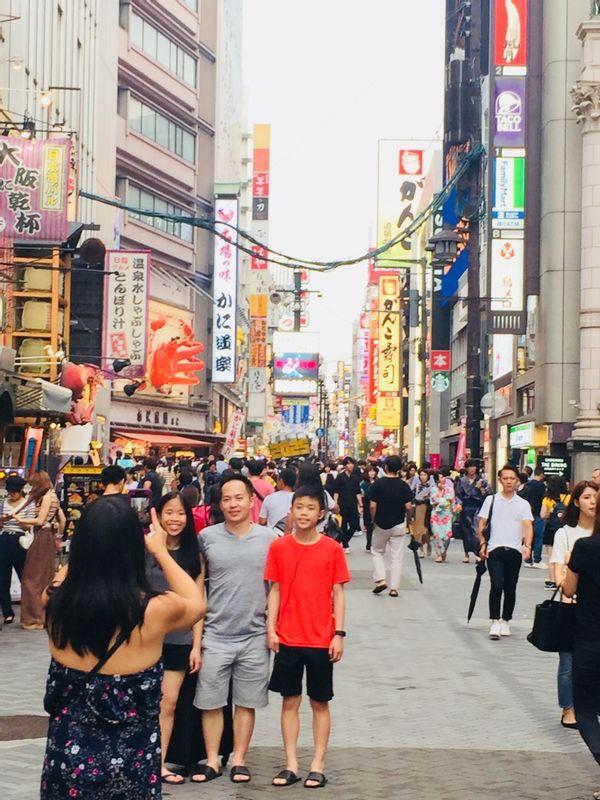 Dotonbori food street(Osaka)