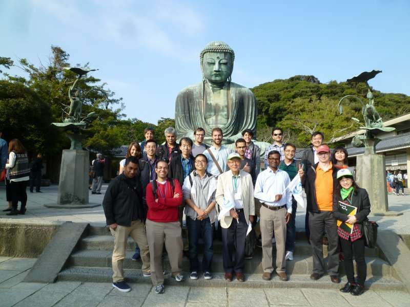 A rule of the universe! Taking photos with the Great Buddha in Kamakura is the must.
