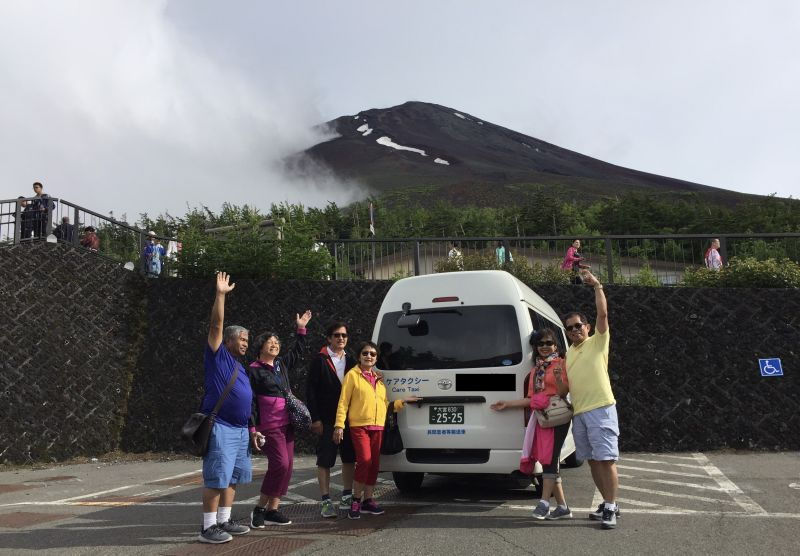 The fifth station of Mt. Fuji. You can visit there by the taxi.