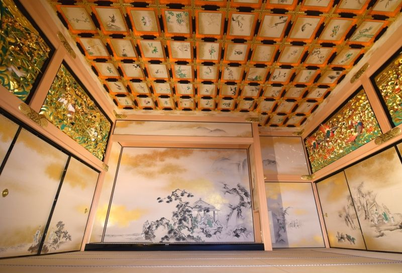 Inside of Nagoya Castle Hommaru Palace samurai residence --- Feel like back to 400years ago!