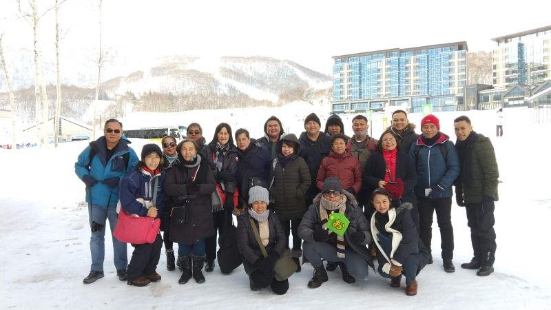 Winter Niseko,Hokkaido with group from Philippines