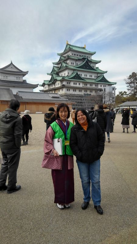 with my guest at Nagoya Castle