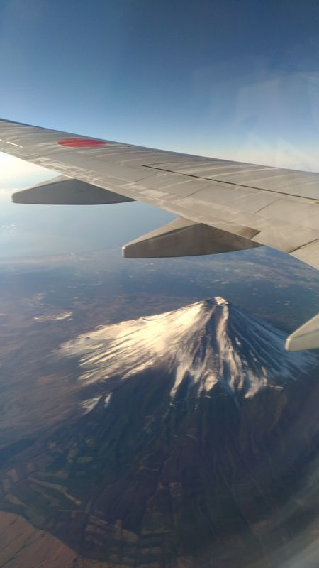 Mt. Fuji from the airplane