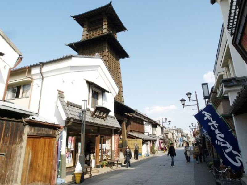 The Kawagoe bell tower. The bell is rung four times a day to let people know the time.