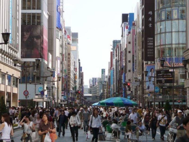 Pedestrian heaven ay Ginza.