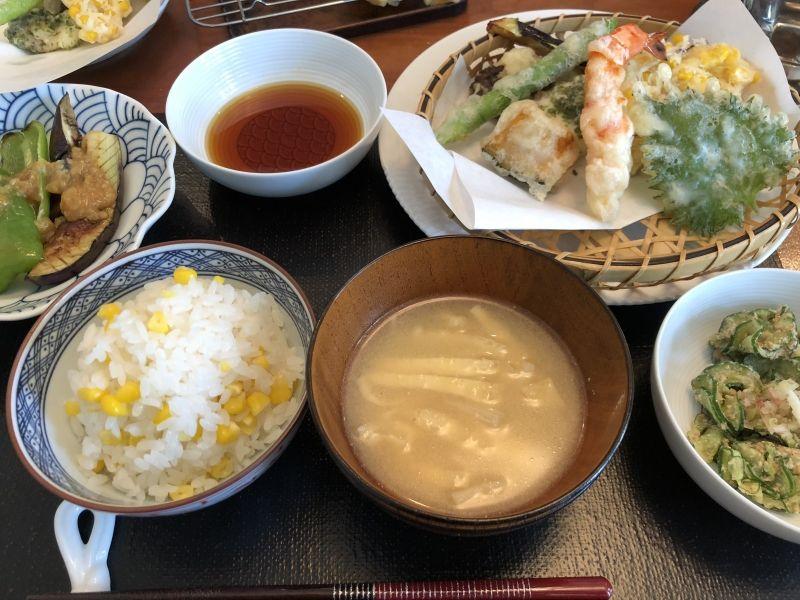 Tempura meal set.