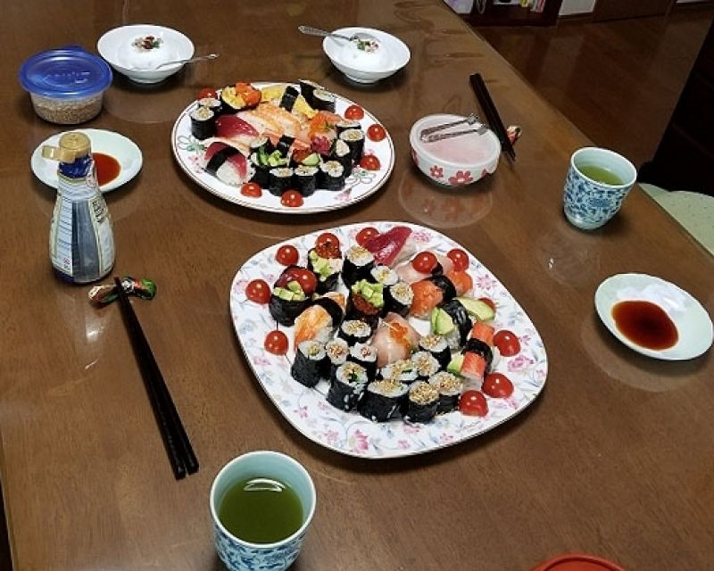 Sushi dishes you made by your own