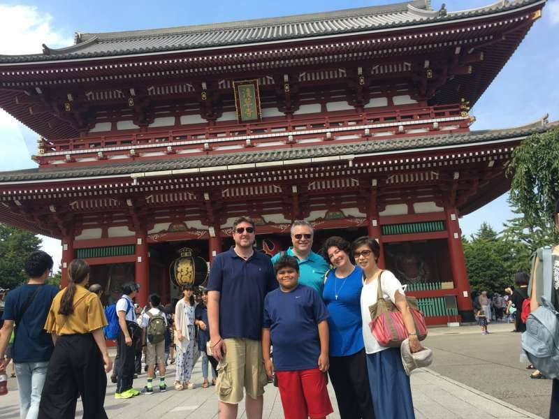 In front of Hozomon Gate, Asakusa