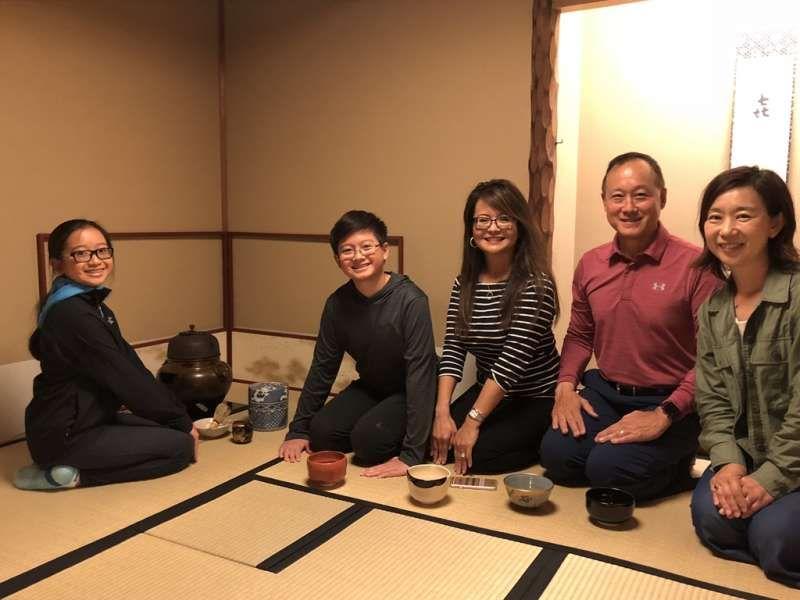 Enjoying Tea Ceremony