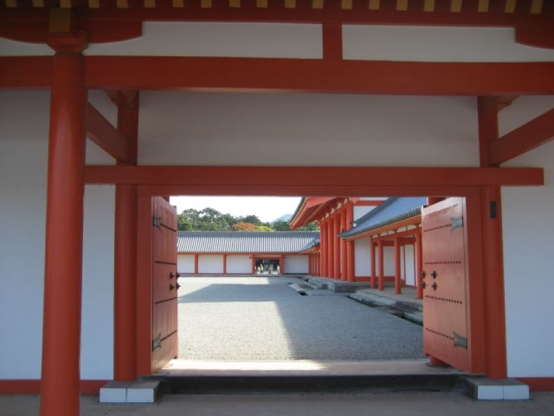 The Kyoto Imperial Palace. it was once the home of Japanese emperors.