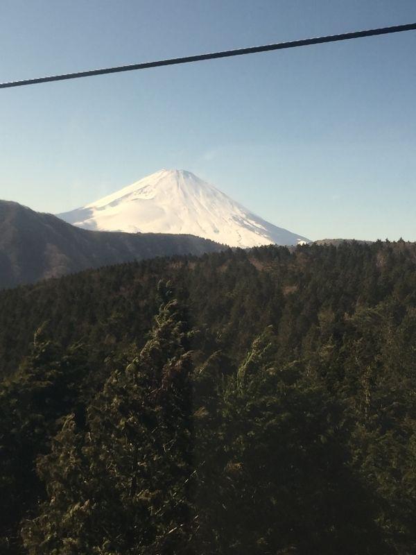 Mt Fuji from the ropeway car gondola, so nice view!!