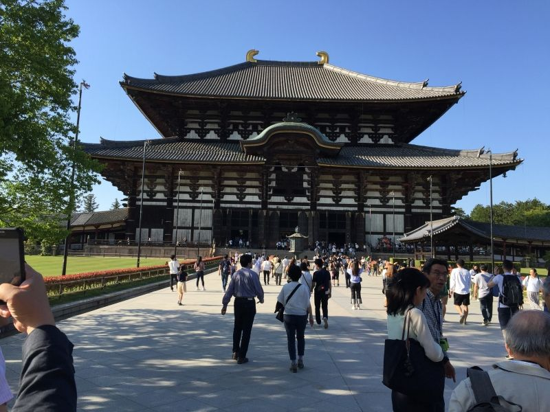 The famous Great Buddha Hall in Nara, the ancient capital city of Japan 1300 yeas ago.
