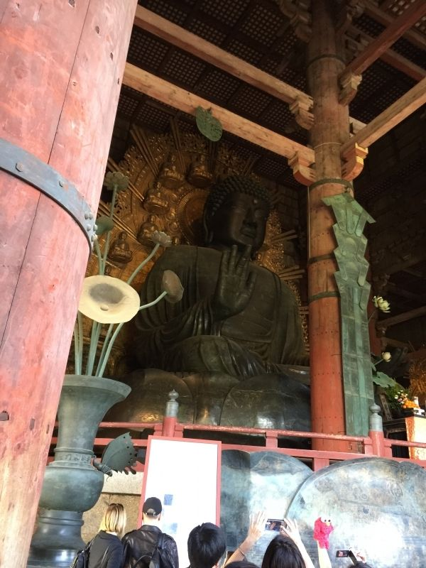The world's largest bronze statue of Buddha. One of the World Heritage Sites of Ancient Nara.