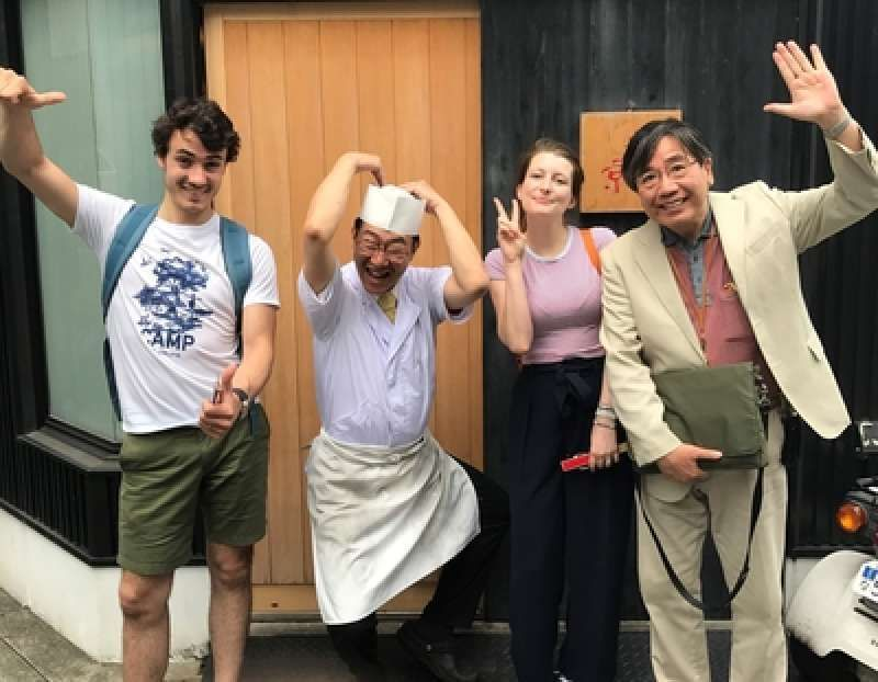 Footage of a Traditional Japanese culture workshop of Washoku(Japanese cuisine).