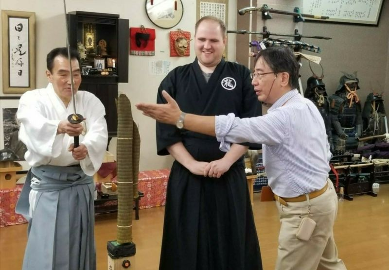 At a traditional Japanese culture workshop of Iai(the art of drawing the sword)