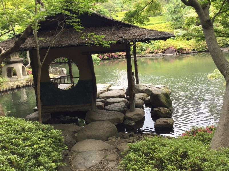 Beautiful Japanese Garden in the middle of Tokyo