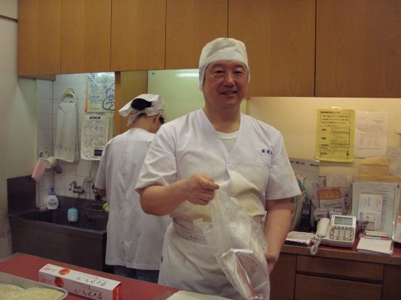 The owner of Yubakichi, my friend. He makes Yuba, made only from soybeans of the highest quality. He work hard every day,