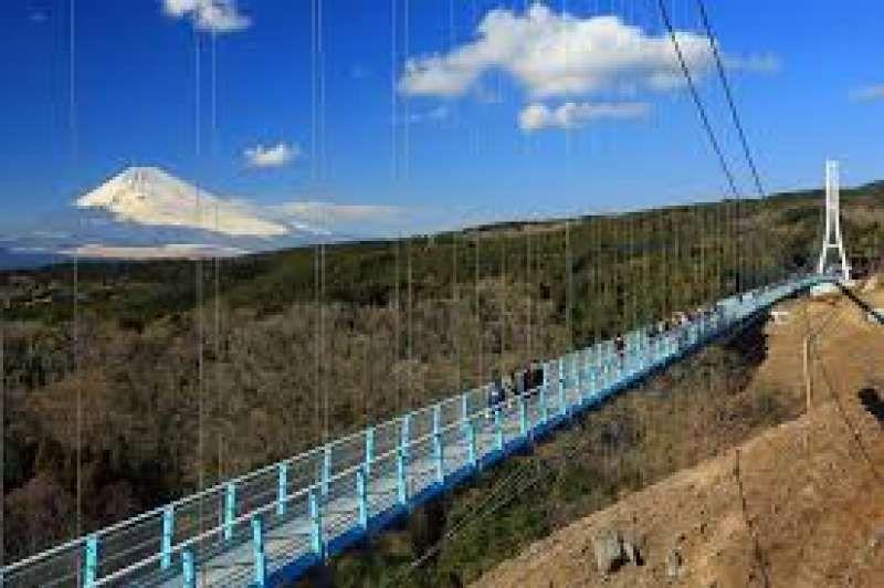 Sky Walk in Mishima : the longest walkbridge in Japan beautiful view