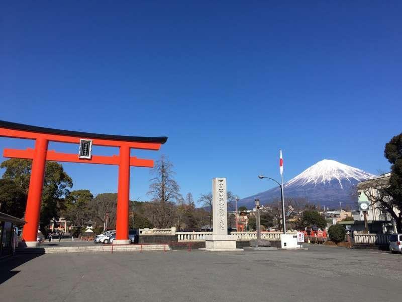 Fujisan  Sengen  Hongu Grand shrine in Fujinomiya city