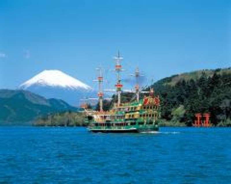 Lake Ashi cruise and  view of Mt.Fiji in Hakone