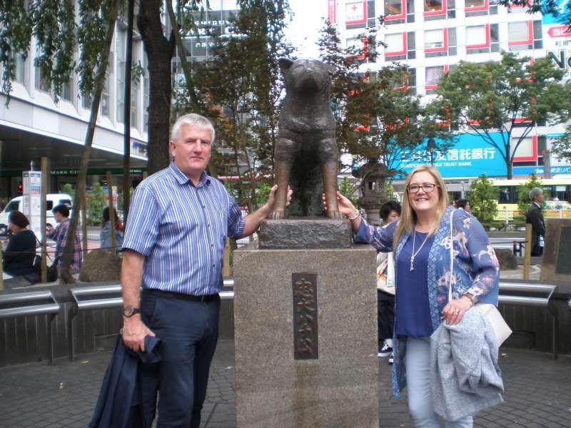 Hachi dog statue in Shibuya Tokyo
