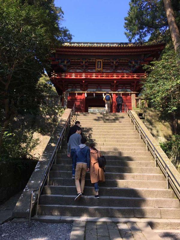 Kunozan Toshogu shrine in Shizuoka city. (National treasure)