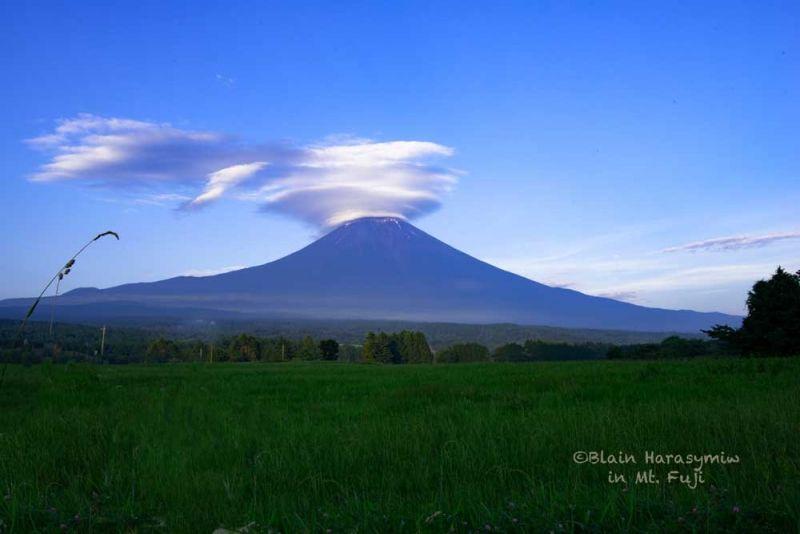 Mt. Fuji with a cloud cap