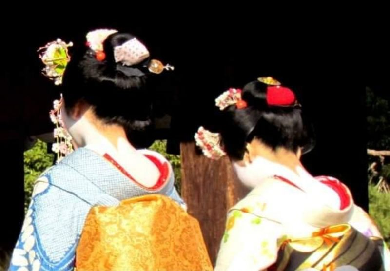 Sometimes you have a chance to see Maiko and Geisya in Kyoto city.
