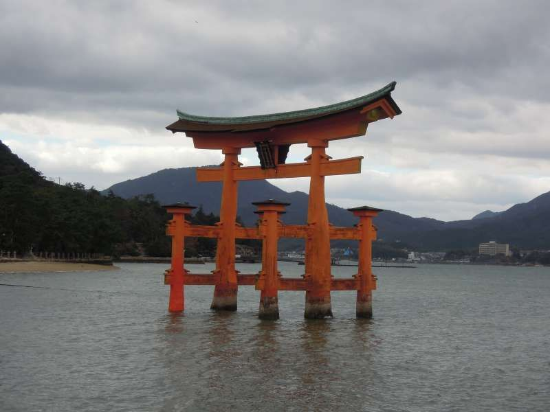The Torii Gate to Itsukushima Shrine, Miyajima Island