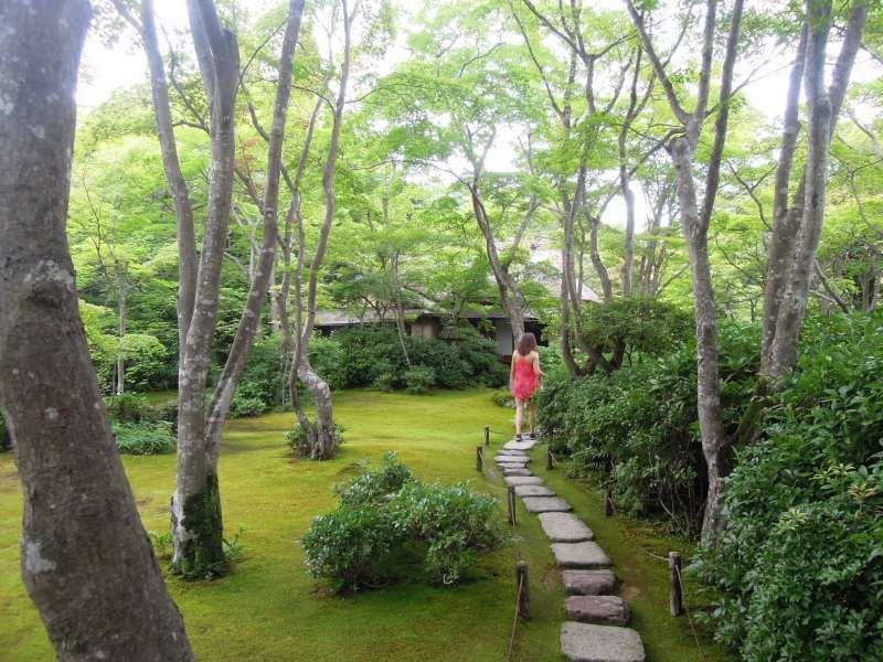 At the garden of Okochi Sanso ( a private mountain villa ), Arashiyama