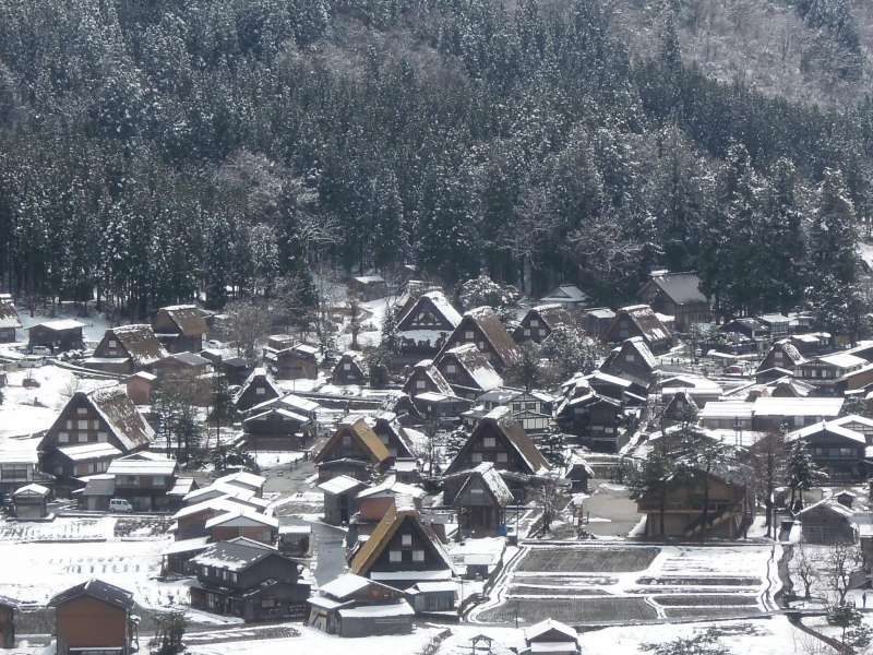 From the observatory of Shirakawa-go village
