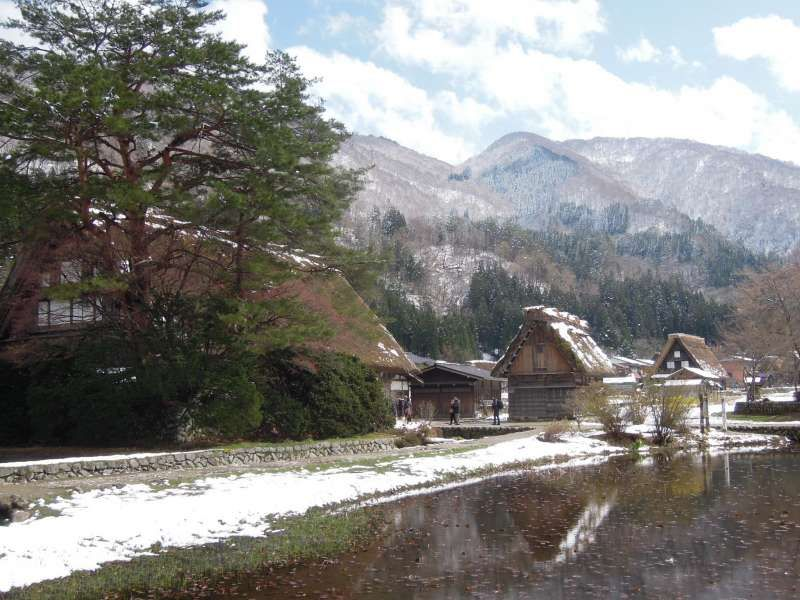 At Shirakawa-go village