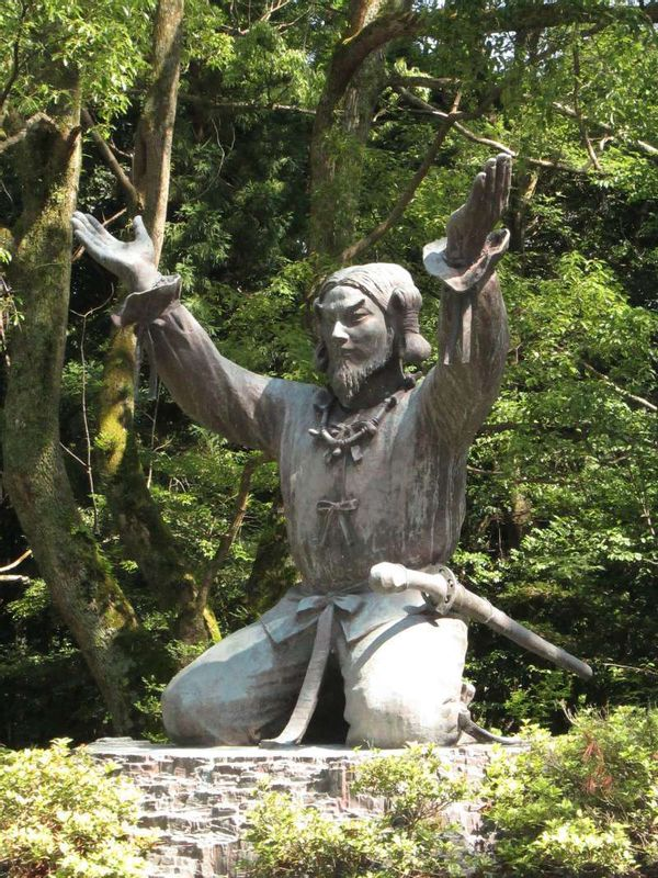 The statue of the great deity enshrined in Izumo Grand Shrine