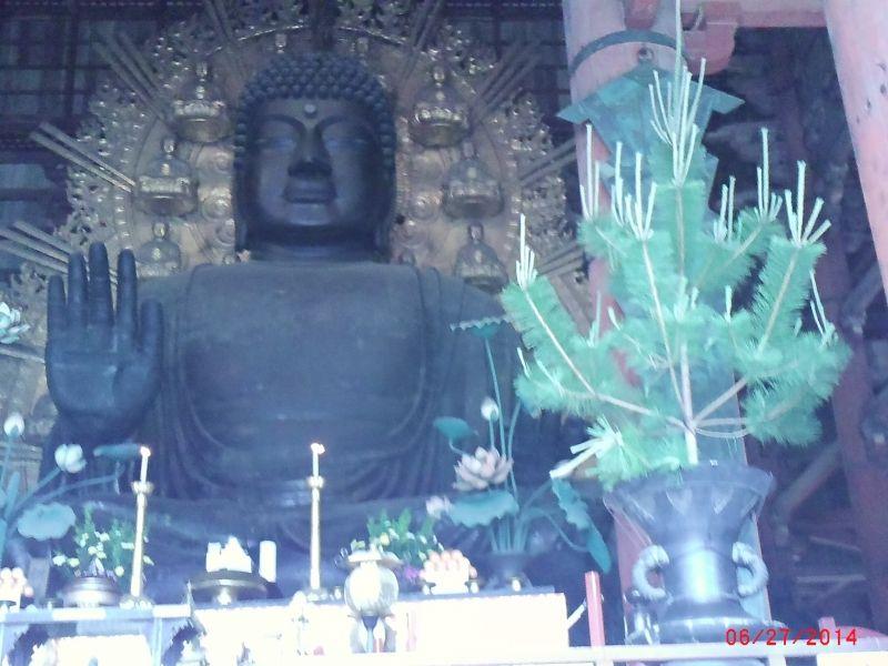 Nara /  Big Buddhist statue of Todaiji temple