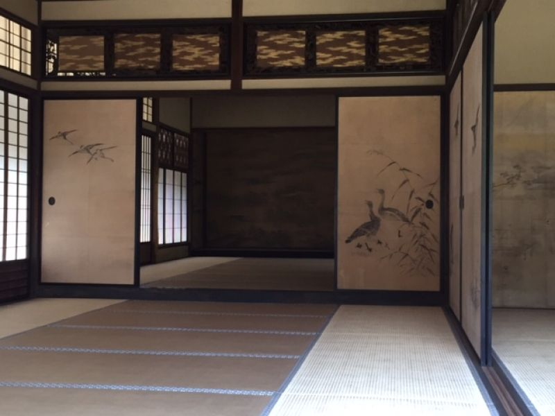 Inside of an Old Japanese house at Sankeien Park