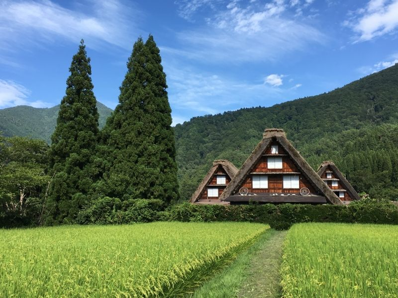Shirakawa-go, Gifu. It's small village still retaining the farmer's life style 400 years ago.