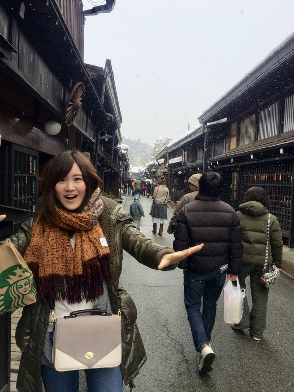 Takayama district, Gifu. We can enjoy shopping and street food tasting on the old historical street used as important transport point in Edo era. The Japanese Sake made there is the best!!!