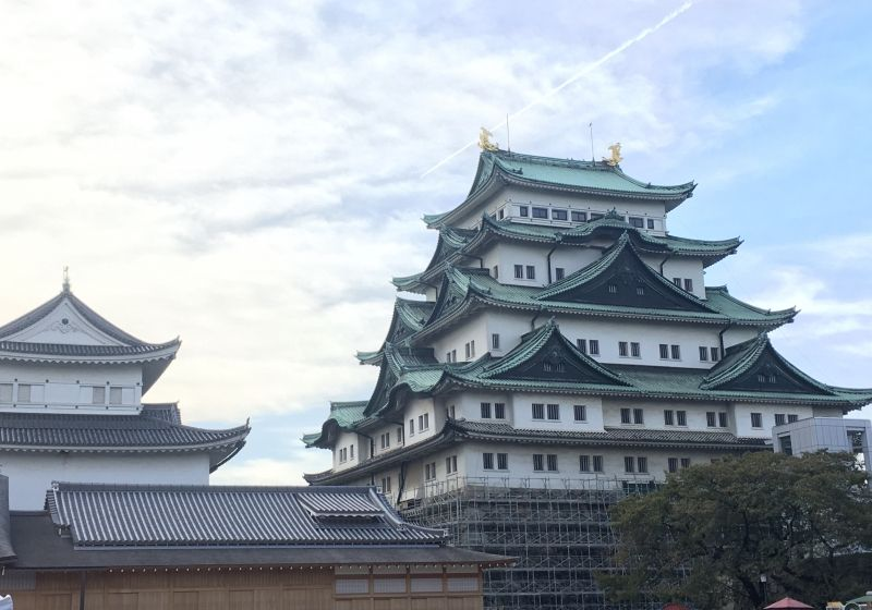 Nagoya castle. We can walk around in the castle park where held many attractions on the weekend, Samurai show, seasonal festival, shopping booth etc.