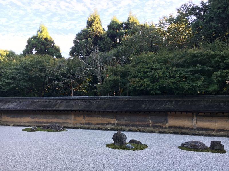 Zen garden at Ryoanji Temple in Kyoto