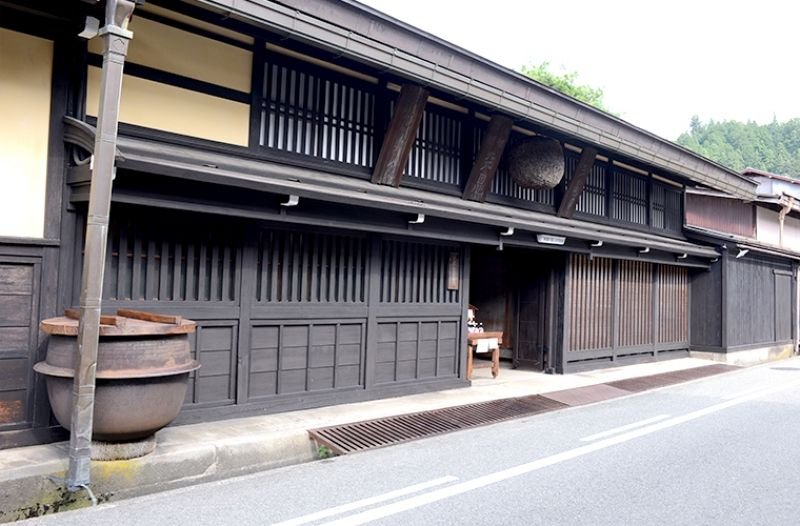 One of the old sake breweries in downtown Takayama.