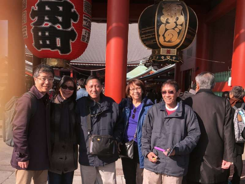 With my lovely guests, at Sensoji Temple in Asakusa