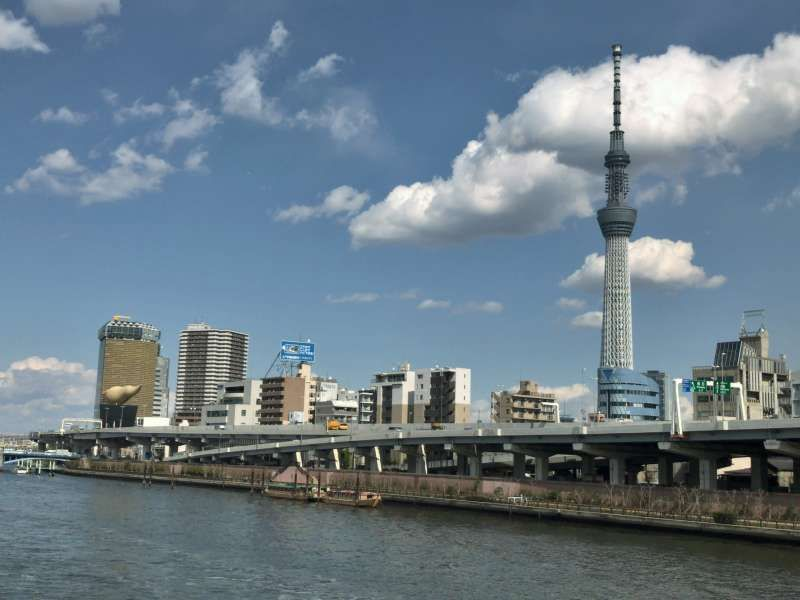TOKYO SKY TREE, standing nearby the Sumida River in Asakusa