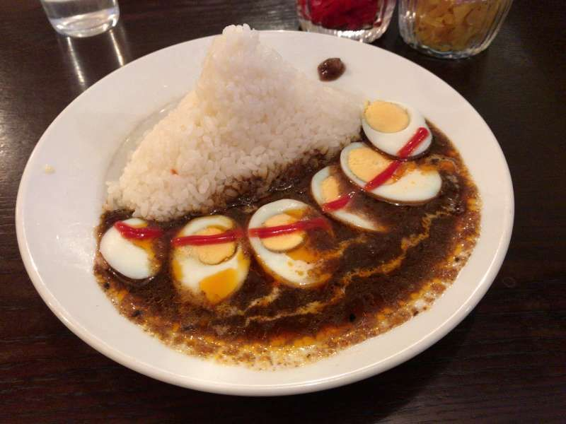 Curry and rice is one of my favorite dishes, served in a restaurant in Shibuya